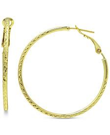 """Textured Hoop Earrings, 2"""" Created for Macy's"""