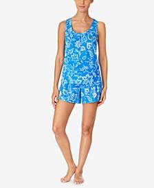 Printed Tank Top & Shorts Pajama Set