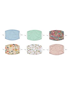 Kids 6-Pack Non-Medical Face Masks With Adjustable Strap
