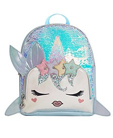 Big Girls Nelly Sequins Narwhal Mini Backpack