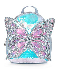 Big Girls Miss Butterfly Sequins Mini Backpack