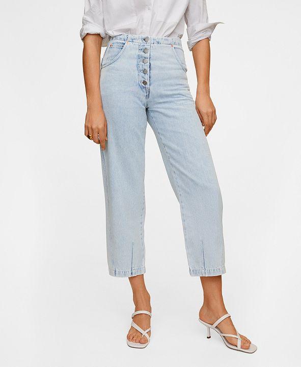 MANGO Straight Fit Light Wash Jeans