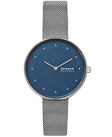 Women's Gitte Stainless Steel Mesh Blue Dial Watch 38mm