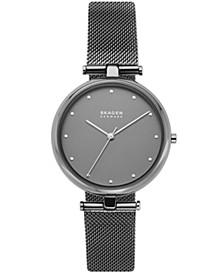 Women's Tanja Gunmetal Stainless Steel Mesh Watch 36mm