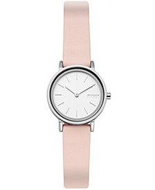 Women's Hald Stainless Steel Pink Leather Watch 26mm