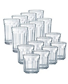 Working Glass Tumblers 16 Piece Glassware Set