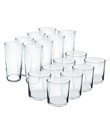 Rika Tumblers 16 Piece Glassware Set
