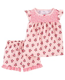 Toddler Girls 2-Pc. Floral Top & Shorts Pajamas Set