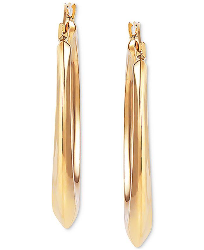 Macy's - Medium Polished Hoop Earrings in 14k Gold