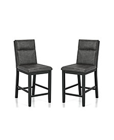 Furniture of America Harlence Upholstered Counter Height Chairs, Set of 2