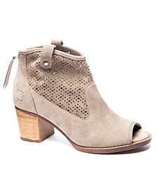 Women's Trixie Eather Peep-toe Bootie