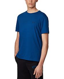 BOSS Men's Tee Curved Open Blue T-Shirt