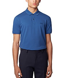 BOSS Men's Pallas Open Blue Polo Shirt