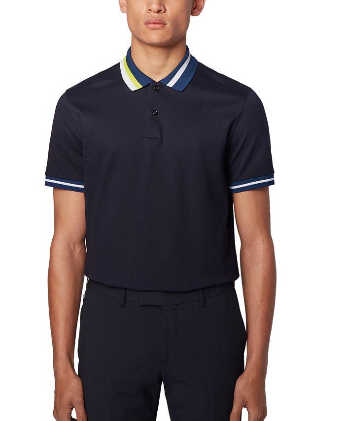 Hugo Boss - Men's Pallas Open Green Polo Shirt
