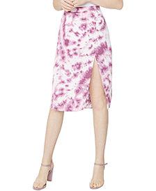 BCBGeneration Tie-Dyed Satin Skirt