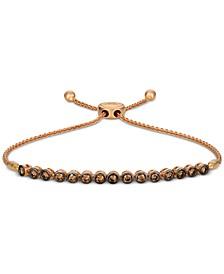 Chocolatier® Chocolate Diamond Bolo Bracelet (7/8 ct. t.w.) in 14k Rose Gold