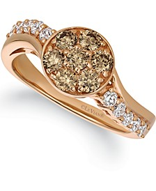 Champagne® Diamond (3/4 ct. t.w.) Statement Ring in 14k Rose Gold