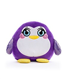 Squeezy, Squishy, Moldable Plush. Stuffed Animal, Large Penguin
