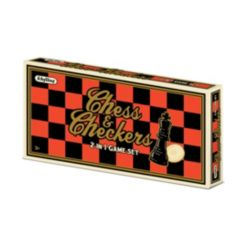 Schylling Chess Checkers 2 In 1 Game Set