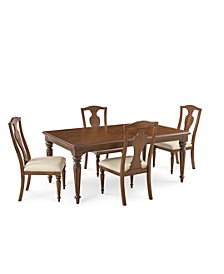 Orle Dining 5 pc Set (Dining Table & 4 Side Chairs), Created for Macy's
