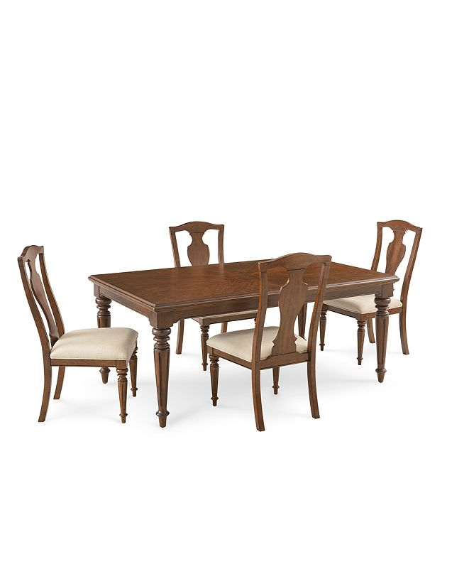 Furniture Orle Dining Furniture 5 pc Set (Dining Table & 4 Side Chairs), Created for Macy's