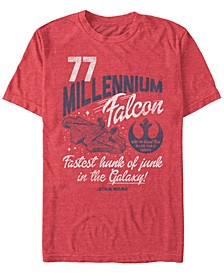 Men's Star Wars Millennium Falcon Fly Retro Short Sleeve T-shirt