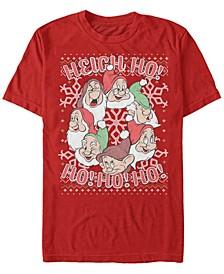 Men's Disney Snow White All Dwarfs Christmas Sweater Short Sleeve T-shirt