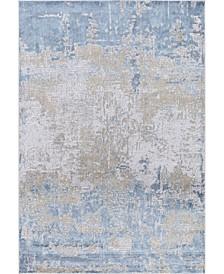 "Hamilton HAM-6 Gold/ Blue 7'6"" x 9'6"" Area Rug"