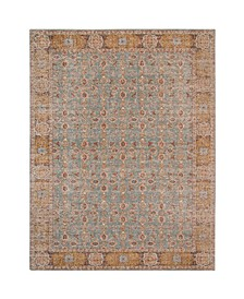 "Eternal ETE-27 Teal/ Gold 5'7"" x 7'6"" Area Rug"