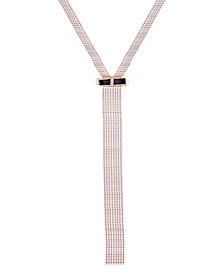 "Gold-Tone Crystal & Bow Wide Lariat Necklace, 24"" + 2"" extender"