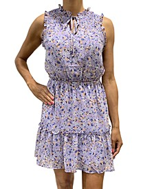 Juniors' Sleeveless Floral Dress