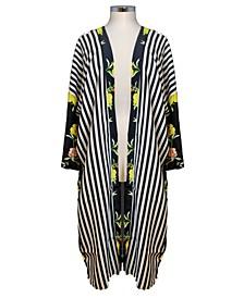 Striped Floral Kimono