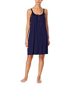 로렌 랄프로렌 니트 나이트가운 Lauren Ralph Lauren Stripe-Print Knit Nightgown