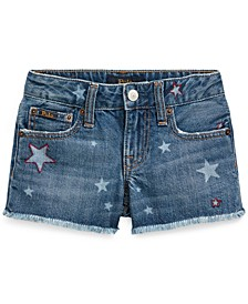 Toddler Girls Star Cotton Denim Shorts