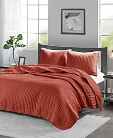 Keaton 3-Piece King/Cal King Quilted Coverlet Set
