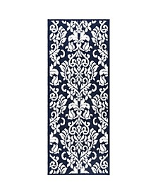 Rosewood Ellie 4A-Olrw02-386 Navy and Ivory 2'X4'11 Runner Rug