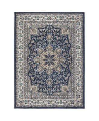 """Haven Hav09 Navy and Ivory 9'2"""" x 12'5"""" Area Rug"""