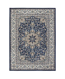 "Haven Hav09 Navy and Ivory 9'2"" x 12'5"" Area Rug"