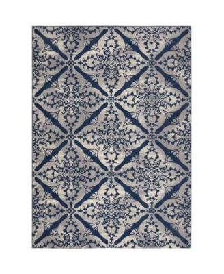 """Haven Hav12 Blue and Gray 9'2"""" x 12'5"""" Area Rug"""