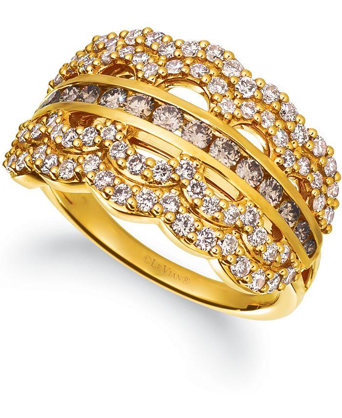 Le Vian - Chocolate Diamond (3/8 ct. t.w.) & Nude Diamond (5/8 ct. t.w.) Ring in 14k Gold