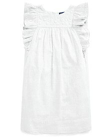 Big Girls Embroidered Gauze Dress