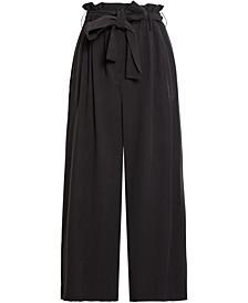 Wide-Leg Paperbag Pants