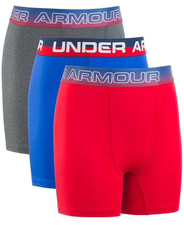 Under Armour - Big Boys 3-Pack Stars Performance Boxer Briefs
