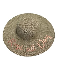 Rosé All Day Floppy Hat