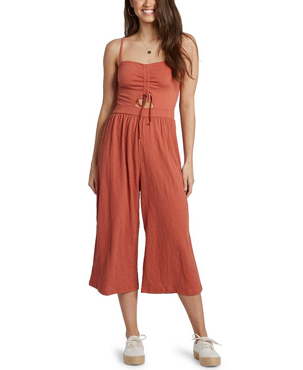 Roxy Juniors' Where You Move Textured Jumpsuit