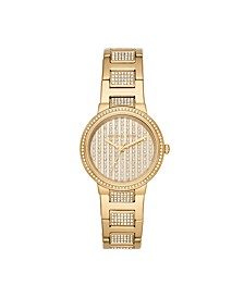 Women's Gabbi Gold-Tone Pavé Glitz Watch 33mm