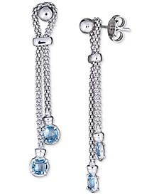 Swiss Blue Topaz Popcorn Link Drop Earrings (1-1/5 ct. t.w.) in Sterling Silver