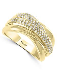 EFFY® Diamond Crossover Statement Ring (1/3 ct. t.w.) in 14k Gold