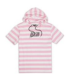 Men's Christine Stripe Hoodie T-shirt