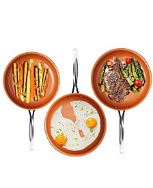 Non-Stick Ti-Ceramic 3 Piece Fry Pan Set